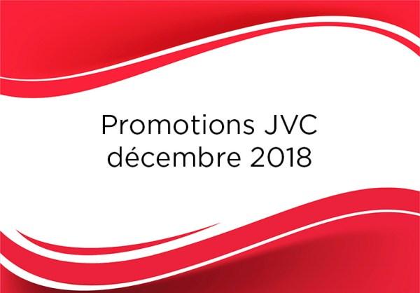 Promotions JVC décembre 2018