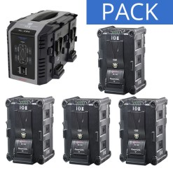 IDX 4 Batteries IPL-150 & Chargeur VL-4SE - Kit Batteries et Chargeur