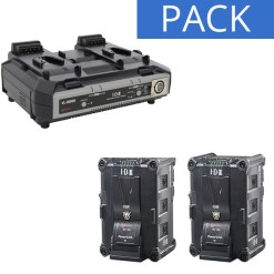 IDX 2 Batteries IPL-150 & Chargeur VL-2000S - Kit Batteries et Chargeur