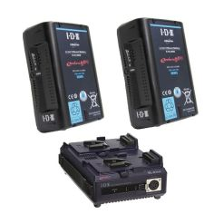 IDX EH-10/2 Kit 2 Batteries E-HL10DS & Chargeur VL-2PLUS - Kit Batteries et Chargeur
