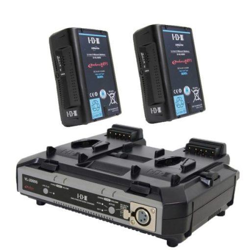 IDX EH10/2000S Kit 2 Batteries E-HL10DS & Chargeur VL-2000S - Kit Batteries et Chargeur