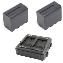 IDX SP-2A - Kit de 2 Batteries B-7478S + Chargeur LC-2A