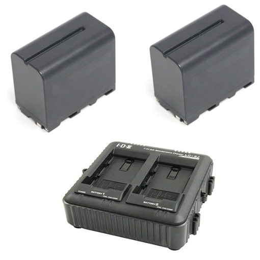 IDX SP-2A Kit 2 Batteries B-7478S + Chargeur LC-2A