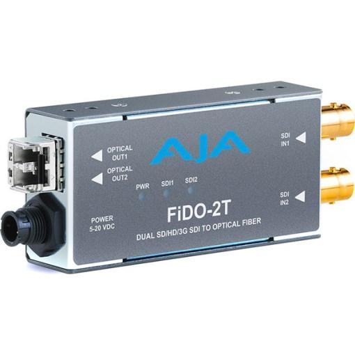 AJA FiDO-2T-MM - Convertisseur 2 canaux 3G-SDI vers Multi-Mode LC Fiber