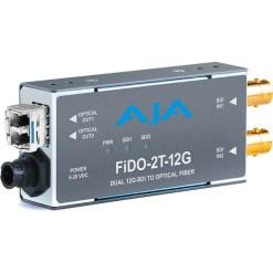 AJA FiDO-2T-12G - Convertisseur 2 canaux 12G-SDI  vers Single Mode LC Fiber