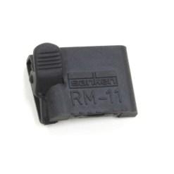 Sanken RM-11C-N - plaquette support en caoutchouc avec pince (noir)