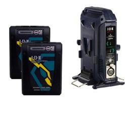 IDX Imicro-150 (x2) avec Chargeur VL-2X - Batteries avec Chargeur