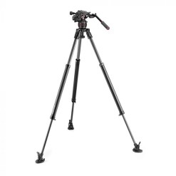 Manfrotto Nitrotech 608 + Fast Single 635 - Kit Rotule et Trépied Vidéo