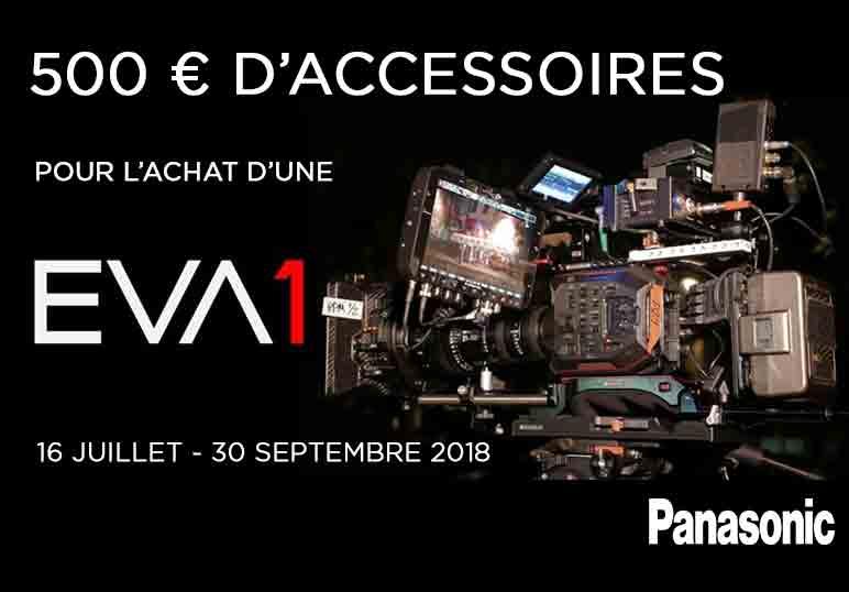 Promo Panasonic : 1 caméra EVA1 achetée = 500€ d'accessoires offerts
