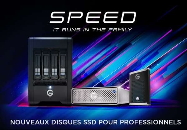 Nouvelle gamme de stockage SSD G-SPEED