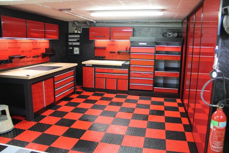ensemble rouge garage 2 pieces