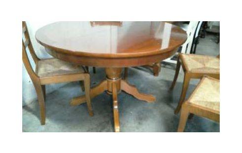 table ronde merisier louis philippe