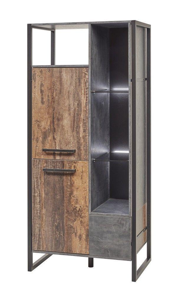 colonne industriel bois de navire et metal portes gauche samira