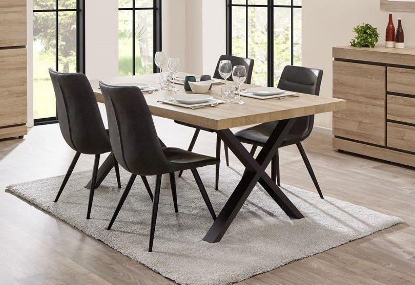 table de salle a manger rectangulaire pieds en croix 230 cm tayson