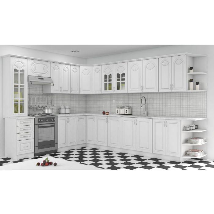 element d angle haut de cuisine 1 etagere blanc dieppe