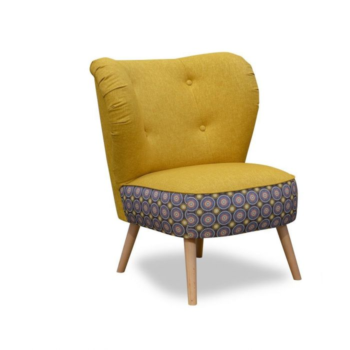 fauteuil style scandinave jaune moutarde hambourg
