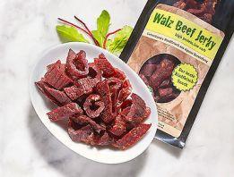 Beef Jerky Pure 20 mal 100gr, 2 kg   ohne Gewürz geschnitten  ohne Glutamat