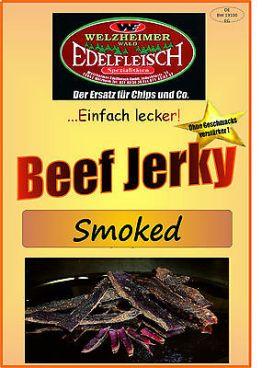 1 Kg Beef Jerky Trockenfleisch SMOKED - Leicht geräuchert-