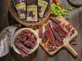 Biltong/Beef Jerky 10 mal 100 g 1,0 kg geschnitten Geschmack frei wählbar