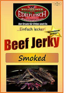 100 Gramm Biltong Beef Jerky  Smoked -leicht geräuchert- Probierpackung am Stück