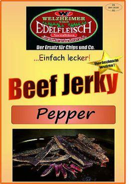 100 Gramm Biltong Beef Jerky Trockenfleisch Pfeffer   Probierpackung Am Stück