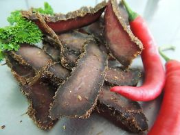 250g Chilly German-Beef-Jerky (Biltong,Steak Bites, Charqui, Pemmikan) 46,96 €/K