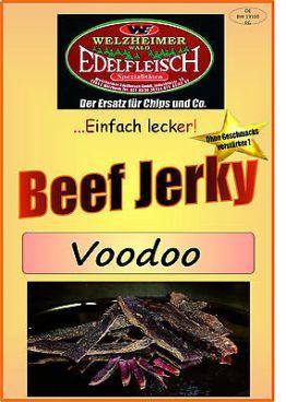 500 Gramm Biltong Trockenfleisch VOODOO mit Zwiebeln Würzung am Stück / STIX
