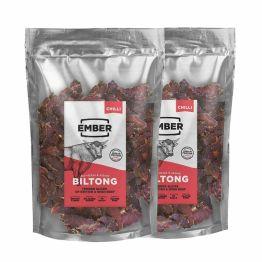Ember Biltong 1KG Großbeutel - Beef Jerky Chili - Proteinreicher Snack - Chilli