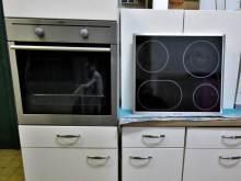 Einbauküche Nobilia weiss AEG Herd Induktions-Kochfeld
