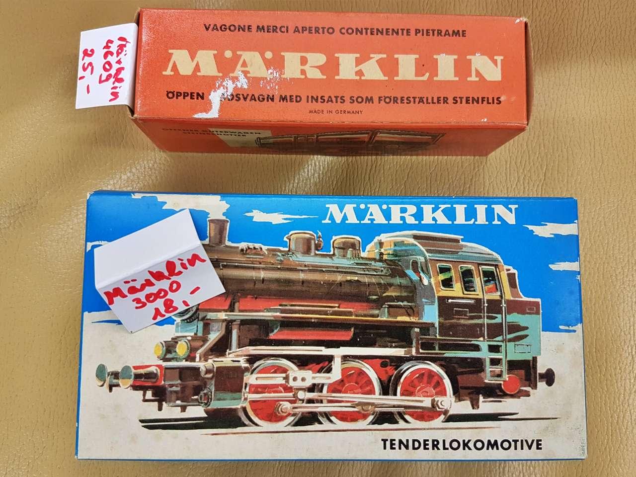 Märklin Modelleisenbahn Sammlerstücke neuwertig Lok 4609 und 3000