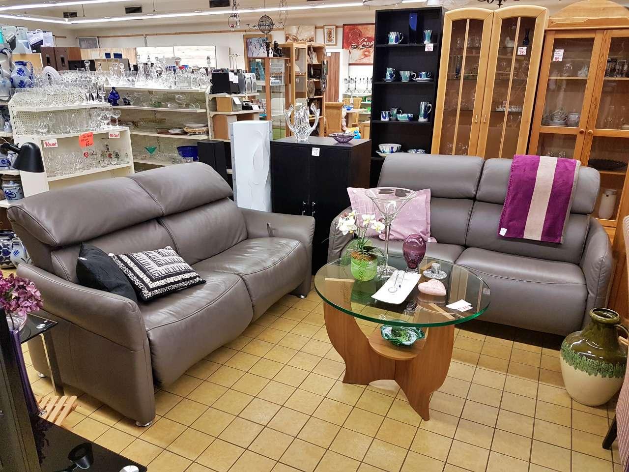Couch Sofa 2er Activi Neo Leder braun