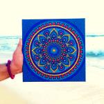 Buy Blueberry Burst Intricate Mandala Dot Painting Online Trogons Com