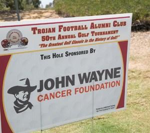 TFAC Golf Classic Tee Sign John Wayne Cancer Foundation