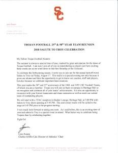 Salute To Troy 2018 Lynn Swann Letter