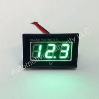 Automotive Authority LLC® 12V 12 Volt Digital Marine Trolling Motor Battery Indicator Charge Status Power Meter - GREEN
