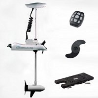 "Haswing Cayman 24v 80lbs Bow Mount Electric Trolling Motor White 60"" Shaft with Quick Release Brakcet"