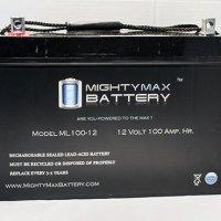 12V 100Ah Battery for Minn Kota Trolling Motor Power Center - Mighty Max Battery brand product