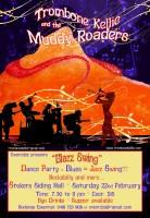 Poster Stoker Siding Hall Dance - Trombone Kellie & the Muddy Roaders