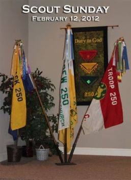 Scout Sunday Flags