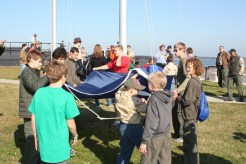 Troop 250 raises SC Flag Ft Sumter