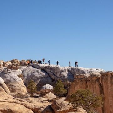 On top of the ridge