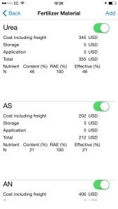 Fertilizer Chooser app - screenshot 1