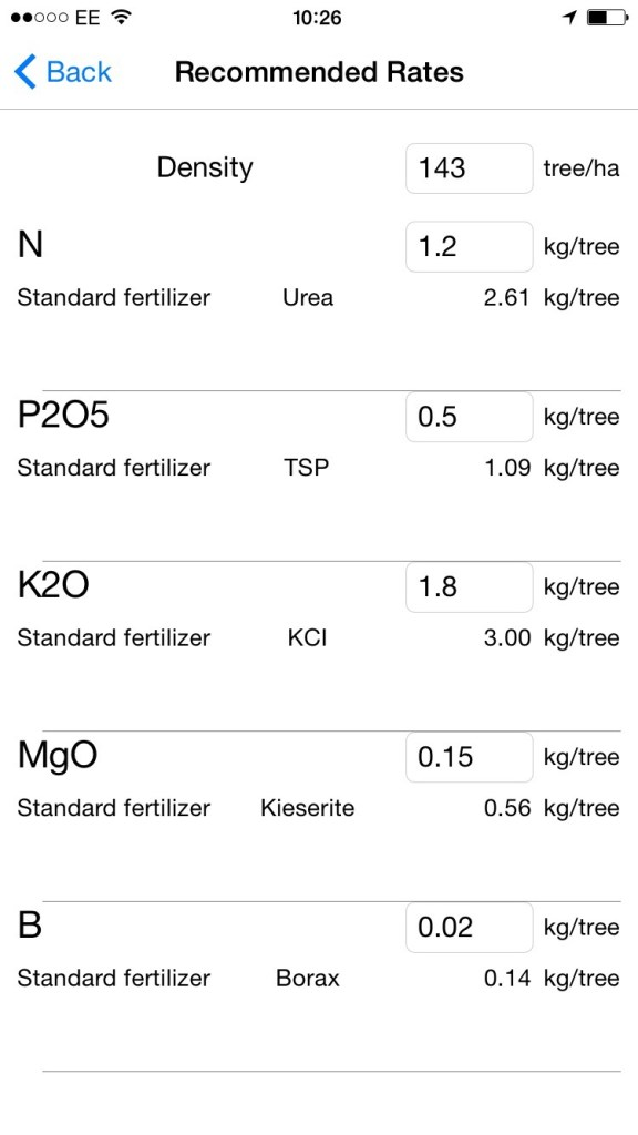 Fertilizer Chooser app - screenshot 2