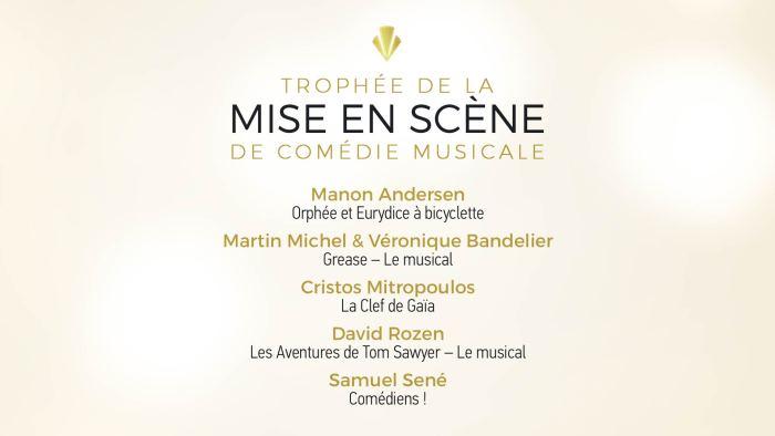 Trophée de la Mise en scène de Comédie Musicale