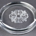 Engraved Round Glass Paperweights. Price Includes Engraving.
