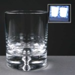 2x Balmoral Glass Bubble Based Engraved Whisky Glasses In Presentation Box