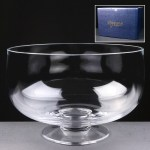 Balmoral Glass Engraved Glass Bowl Supplied In A Blue Cardboard Gift Box
