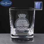 Strauss Whisky Glass In Blue Cardboard Box