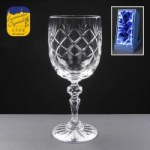 Earle Crystal Wine Glass With Panel For Engraving In Presentation Box