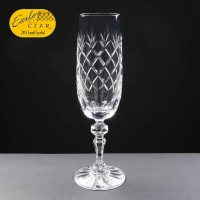 Earle Crystal Champagne Flute With Panel For Engraving